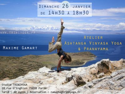 Posture Ashtanga Vinyasa Yoga - Maxime Gamart - Bolivie - Lac Titicaca - TriniYoga atelier janvier 2014