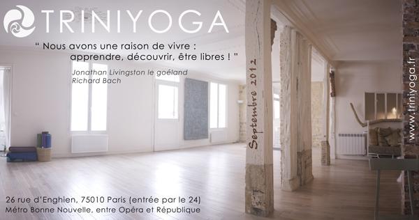 Studio TriniYoga - citation vivre et liberté - J. Livingston
