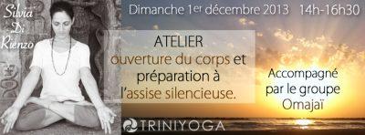 Silvia Di Rienzo - Lotus méditation océan coucher de Soleil - atelier Yoga