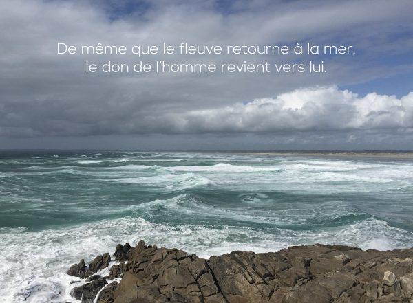 Citation - mer en Bretagne et rochers