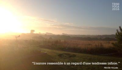 Aube soleil levant en Bretagne et citation