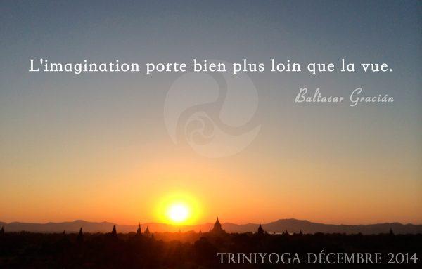 Coucher de soleil en Birmanie et citation TriniYoga