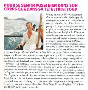 coupure de presse Célébrité Magazine TriniYoga