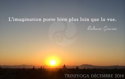 Coucher de Soleil en Birmanie - Citation Trini Yoga
