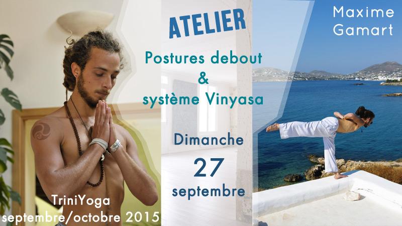Maxime Gamart - Postures debout Ashtanga Vinyasa - atelier Trini Yoga Paris