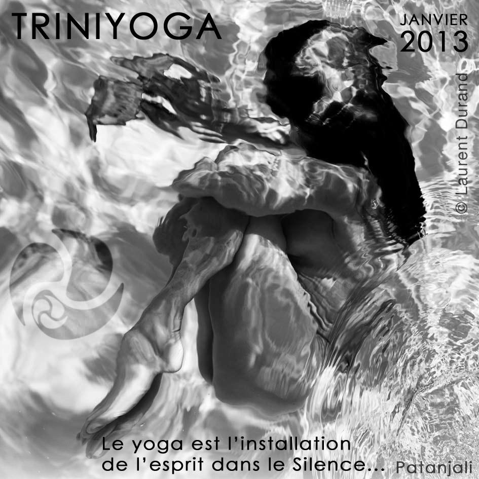 Position foetale femme dans piscine - Citation Patanjali TriniYoga