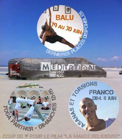 Rocher méditation en Bretagne et actualité Trini Yoga juin 2014