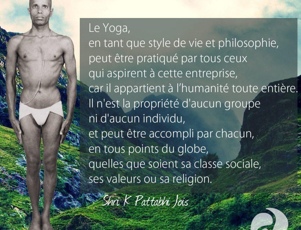 Citation – Le Yoga, en tant que style de vie et philosophie