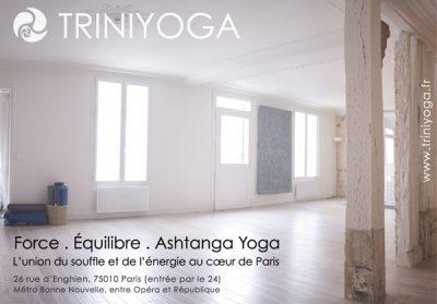 Studio Trini Yoga Paris - parquet et lumière