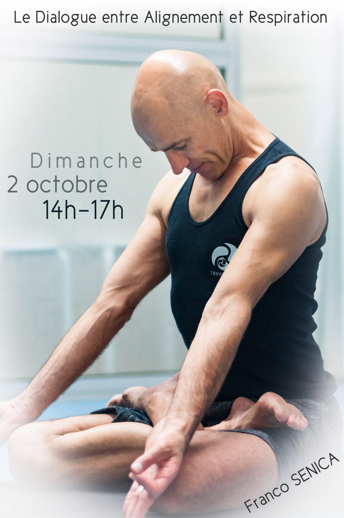 Franco Senica en padmasana - Atelier TriniYoga Paris