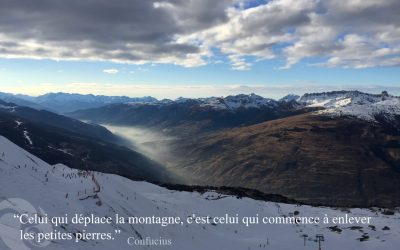 citation Confucius Trini Yoga - Montagnes Arcs