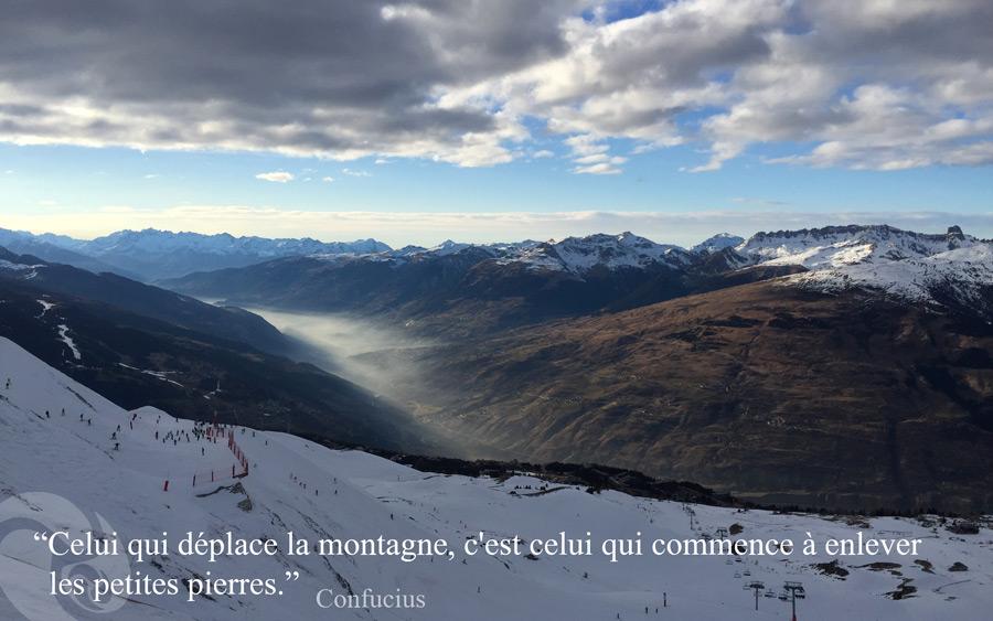 citation Confucius Trini Yoga - Montagnes Arcs