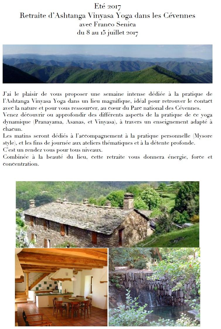 Retraite Ashtanga Yoga Franco Cévennes Sud France