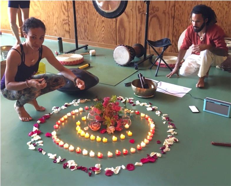 Laurence Franco et Jean Laval, atelier Yin et Yoga du son