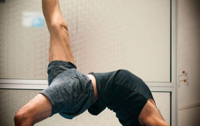 Franco Senica, flexion arrière Yoga